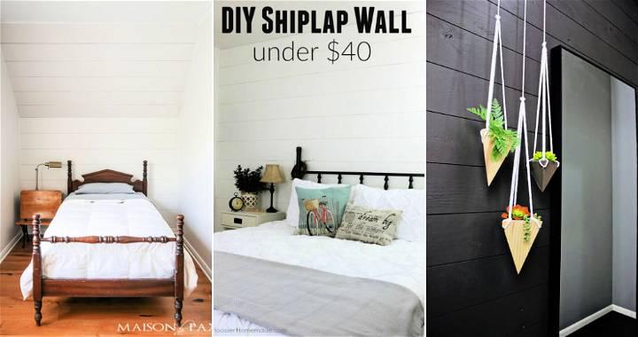 Cheap DIY Shiplap Wall Ideas