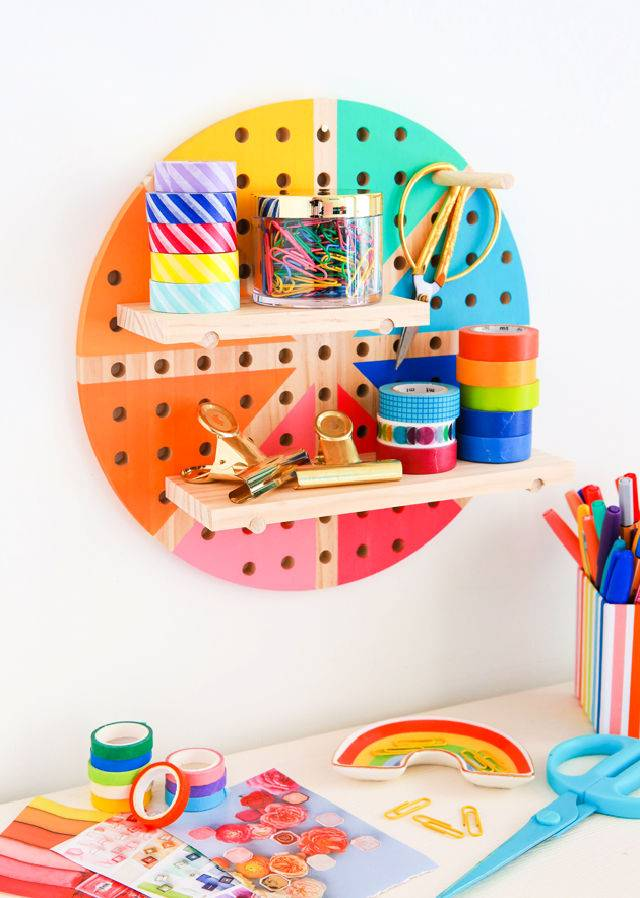 Color Wheel Pegboard To Make And Sell