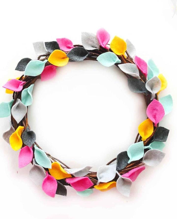 Colorful DIY Felt Wreath