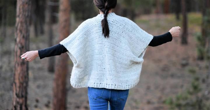 Cuddle Shawl Cardigan Crochet Pattern