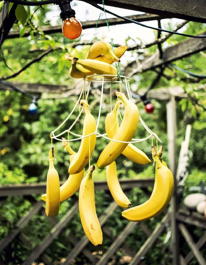 DIY Banana Chandelier African Party Decoration