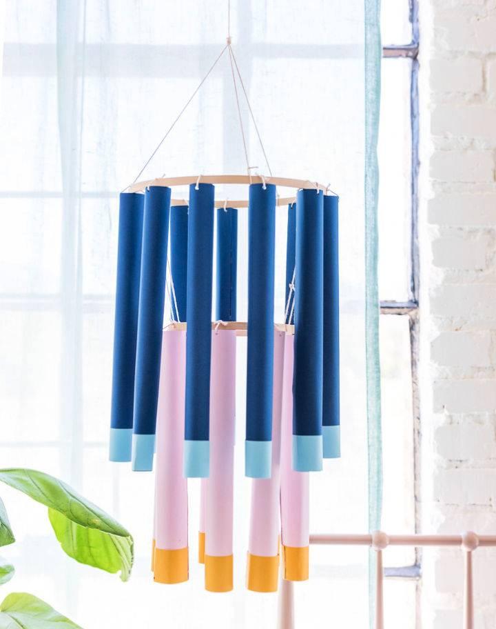DIY Paper Tube Chandeliers