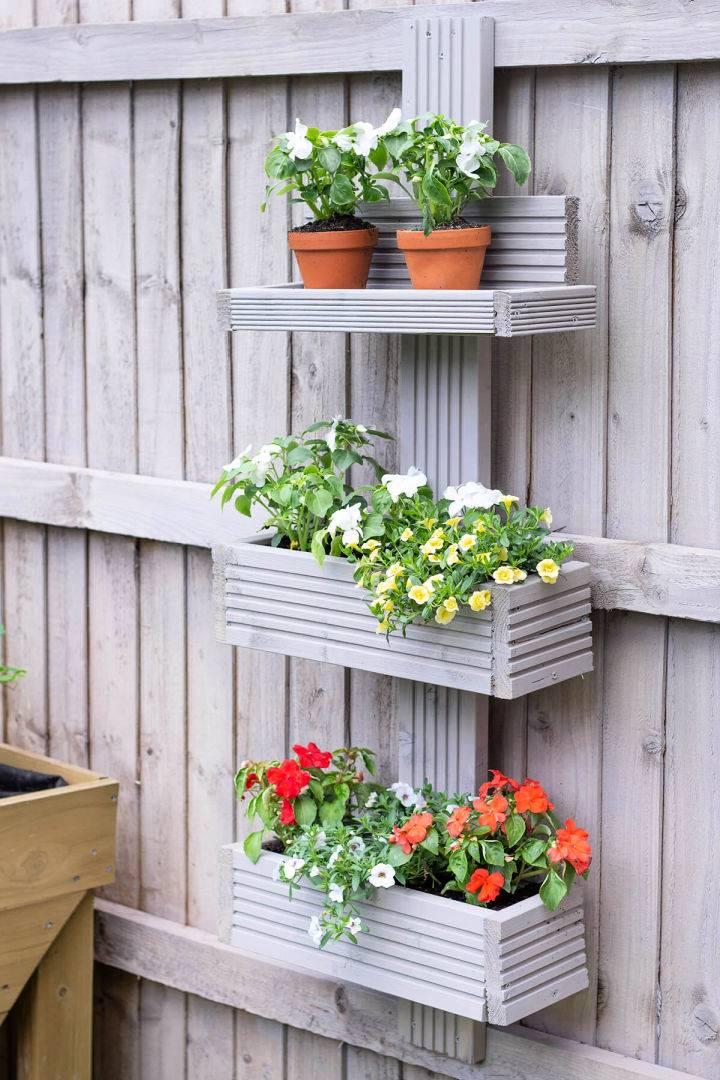 DIY Vertical Garden From Scrap Wood