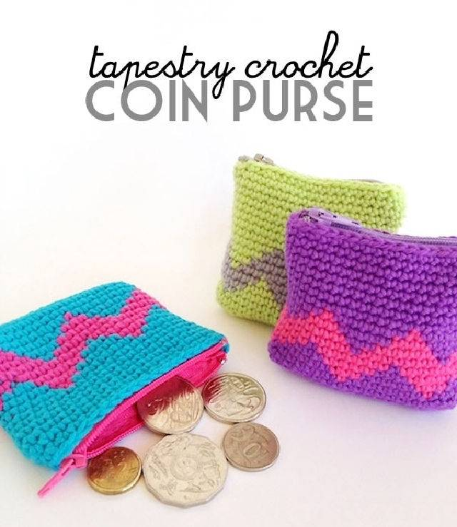 Free Crochet Tapestry Coin Purse Pattern