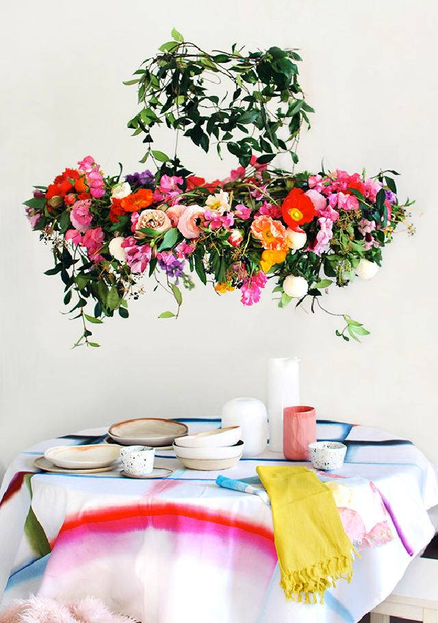 Hanging Flower Chandelier For Your Next Party