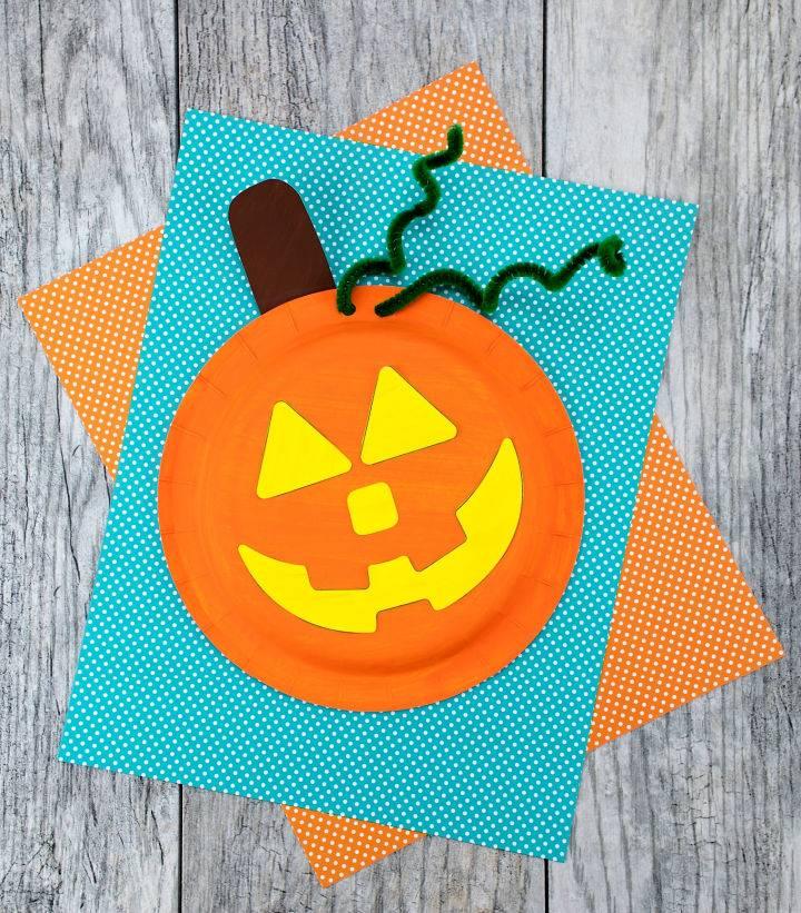 How to Make Paper Plate Pumpkin Craft