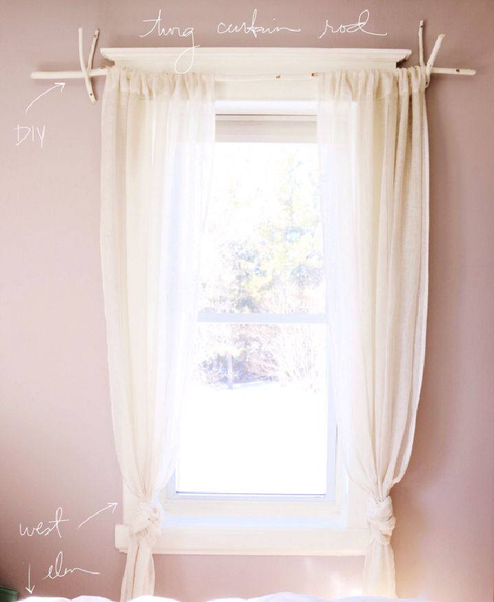 How to Make a Gorgy Gorgeous Twig Curtain Rod