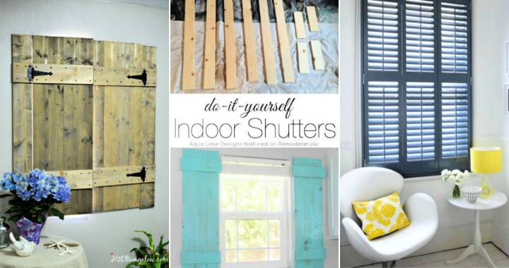 Inexpensive DIY Interior Shutters with Step By Step Plans