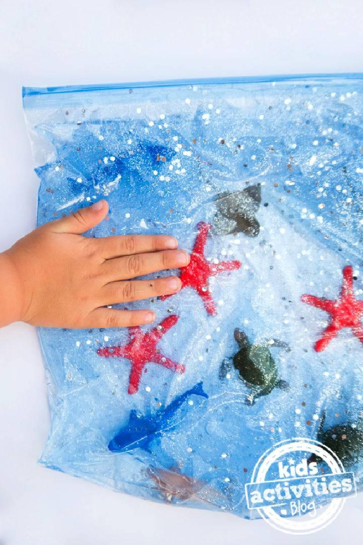Make An Ocean Sensory Bag