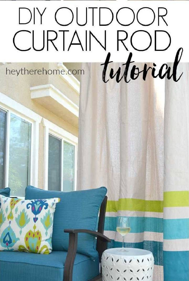 Outdoor Curtain Rod for Very Little Money