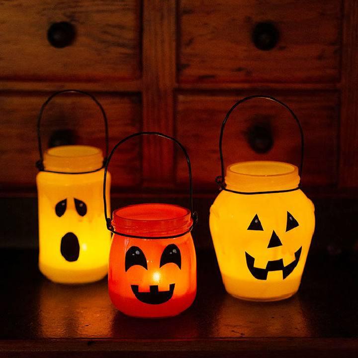 Upcycling Scary Pumpkin Lanterns