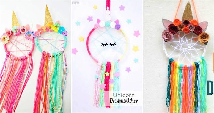 diy unicorn dream catcher ideas