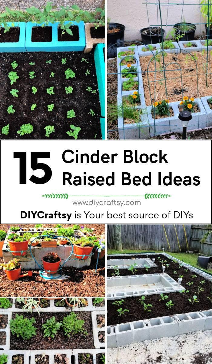 15 easy cinder block raised bed ideas