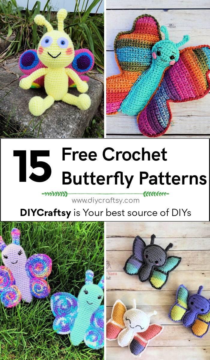 15 free crochet butterfly pattern