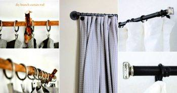30 Cheap DIY Curtain Rods And Hooks