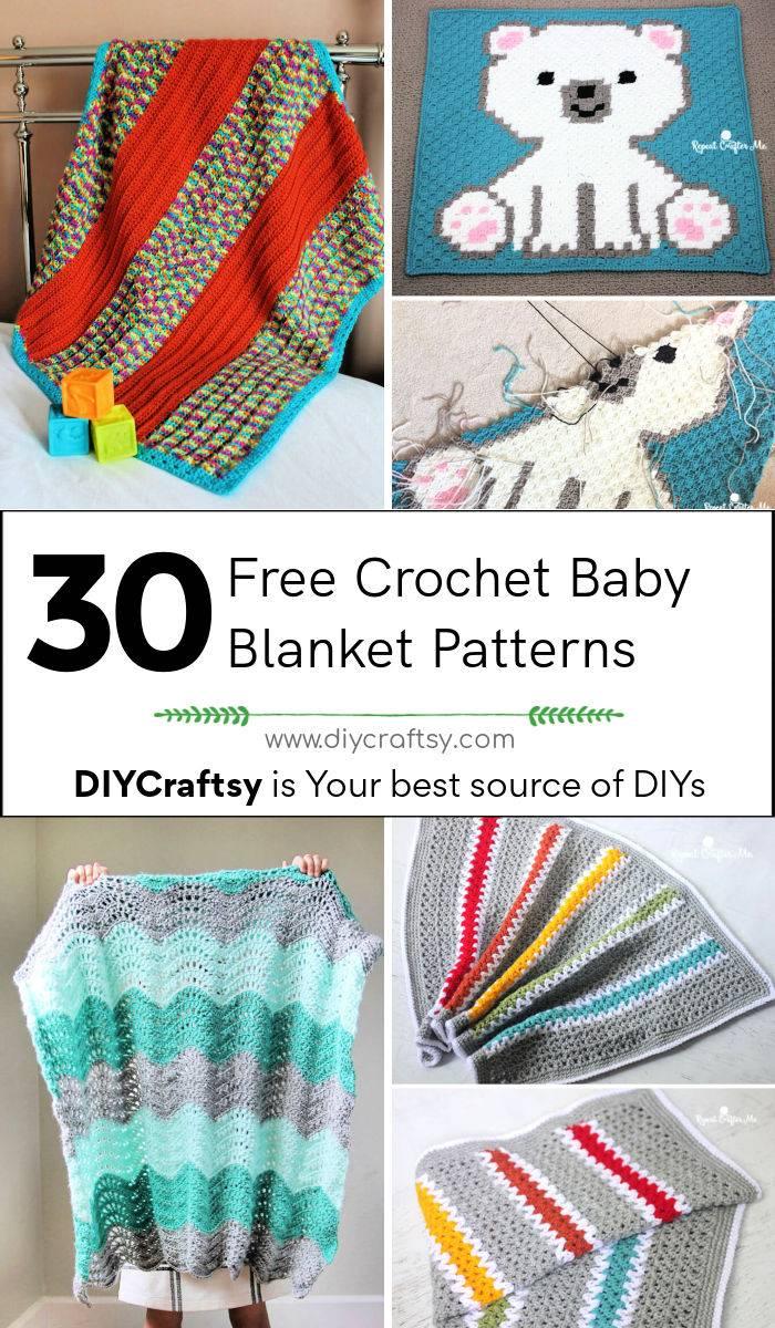 30 free crochet baby blanket patterns for beginners