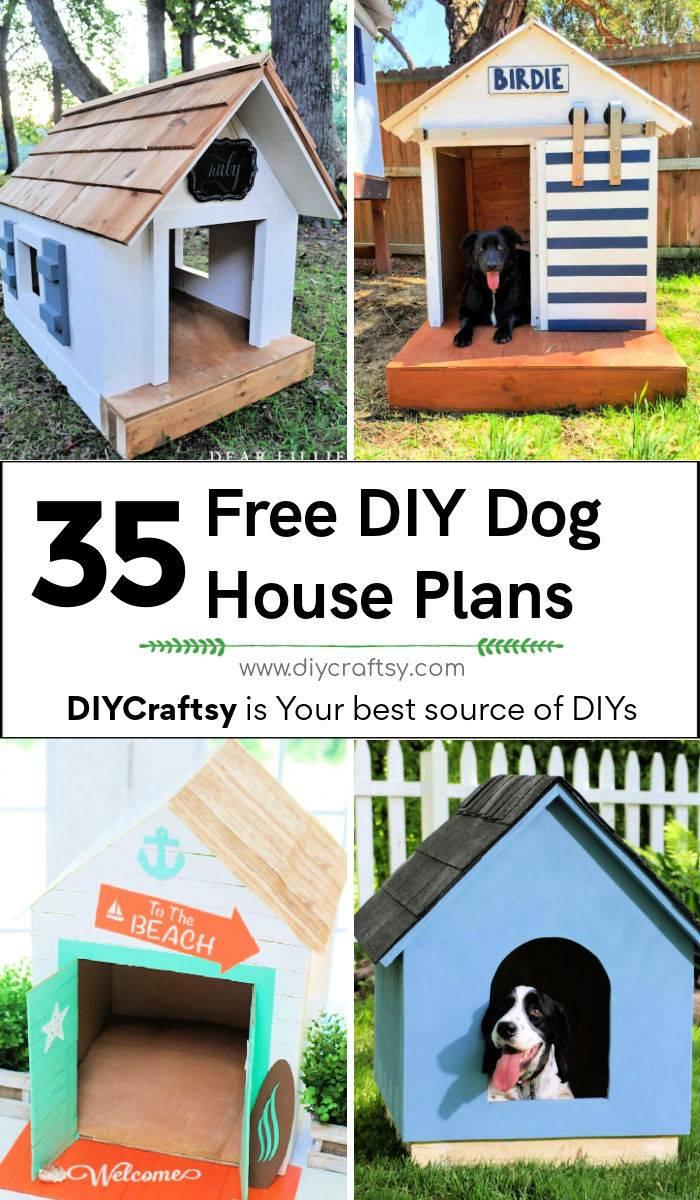 35 diy dog house plans free