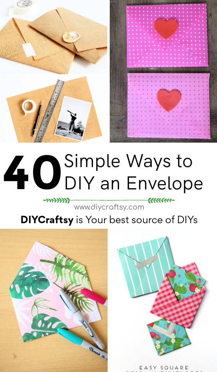 40 Simple Ways to DIY an Envelope