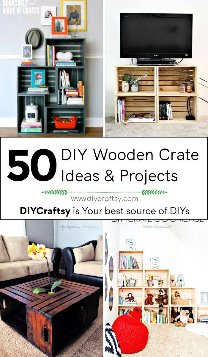50 unique diy wooden crate ideas and projects