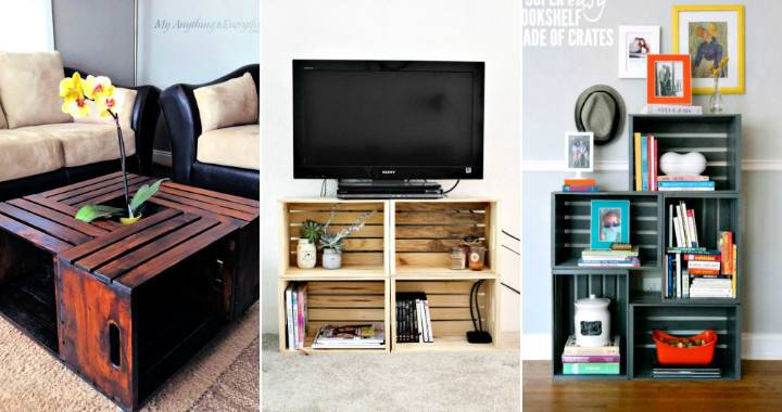50 unique diy wooden crate ideas projects 1