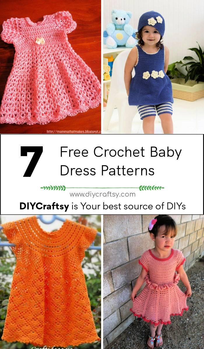 7 Best Free Crochet Baby Dress Patterns