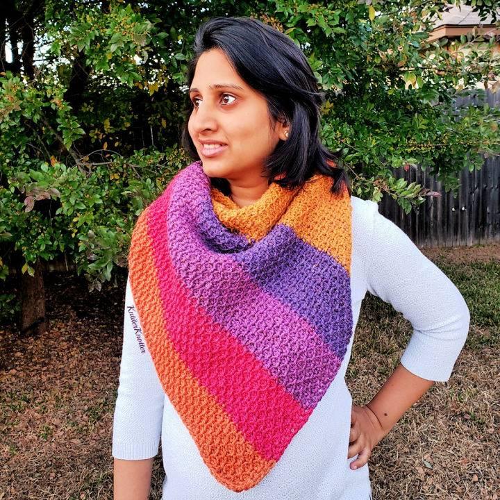 A Taste of Honey Shawl Free Crochet Pattern