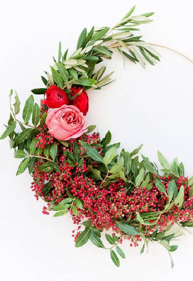 Asymmetrical Holiday Wreath