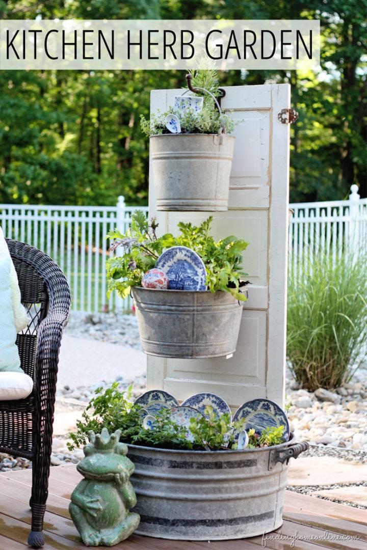 Backyard Kitchen Herb Garden