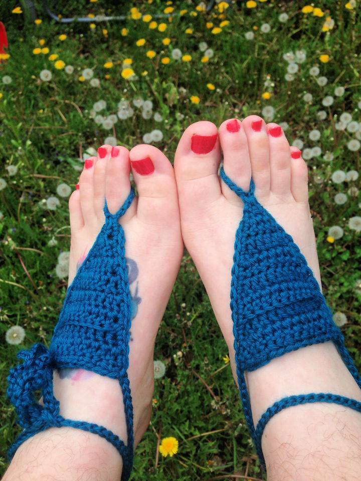 Basic Crochet Barefoot Sandals Pattern
