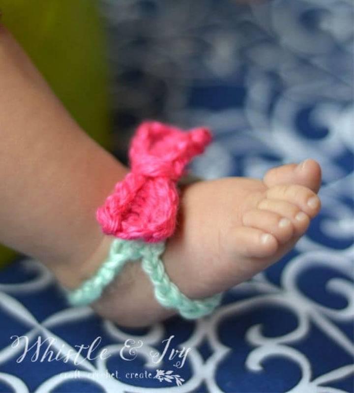 Bow Crochet Barefoot Sandals