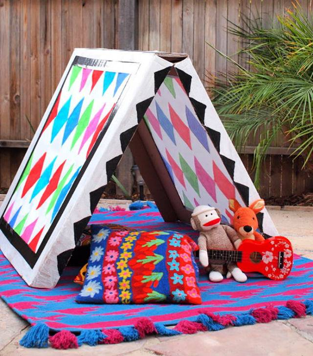 Build Your Own Collapsible Cardboard Tent