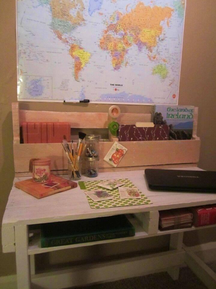 Build Your Own a Pallet Desk