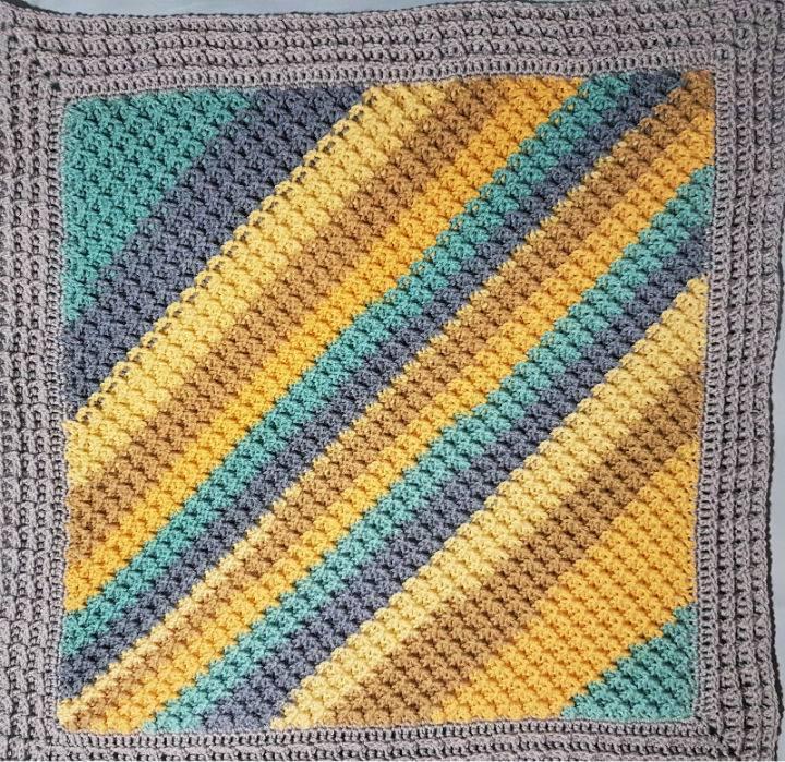 C2C Crochet Waffle Stitch Square
