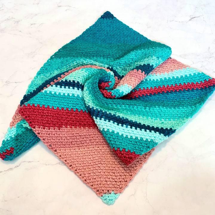 C2C Moss Stitch Blanket Crochet Pattern