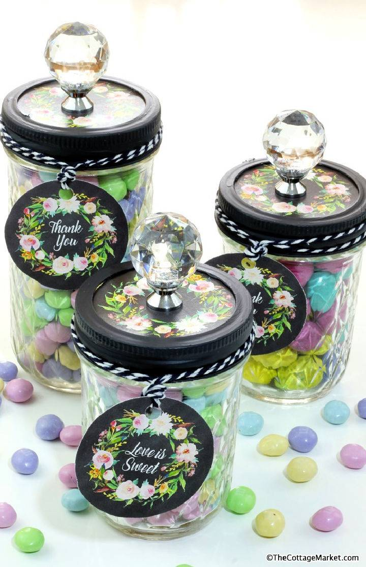 Candy Mason Jars Great Favors Free Printables