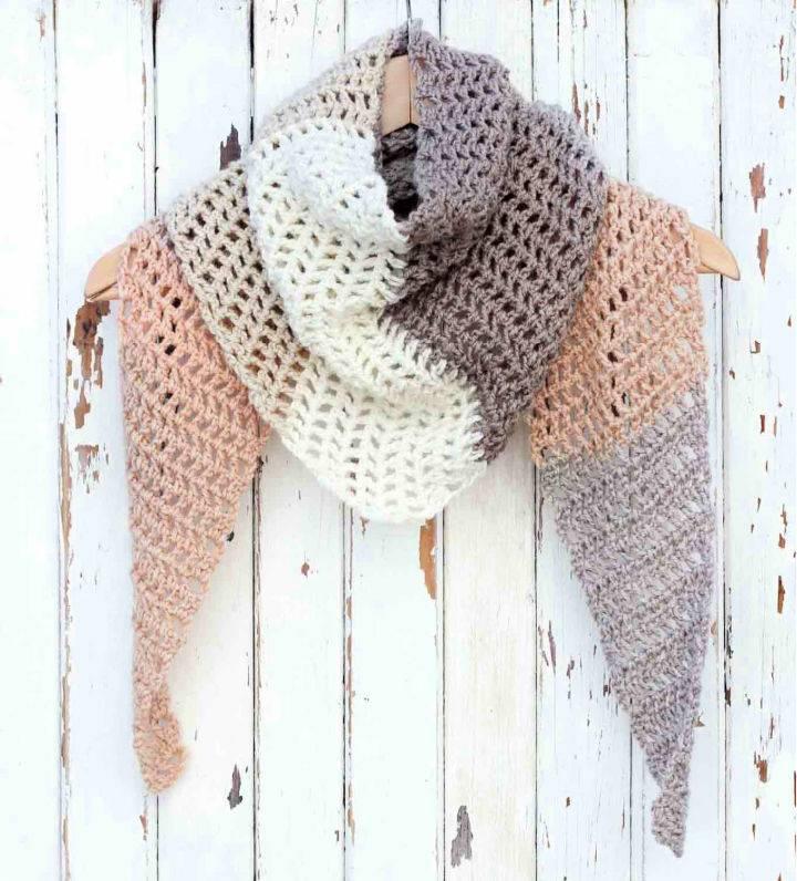 Caron Cakes Crochet Desert Winds Scarf