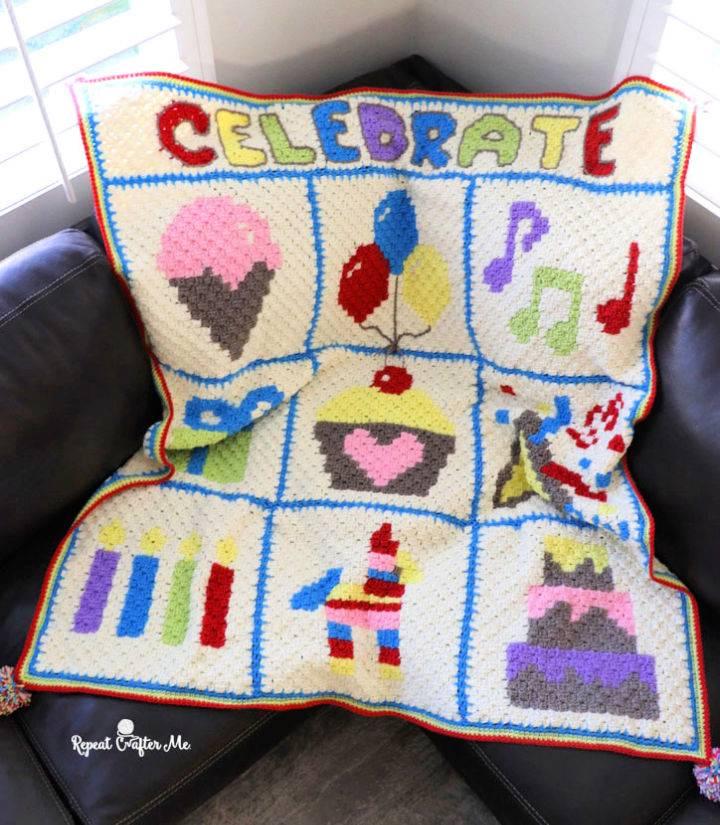 Celebration C2C Crochet Blanket