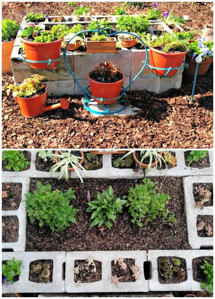 Cement Blocks Raised Garden Bed