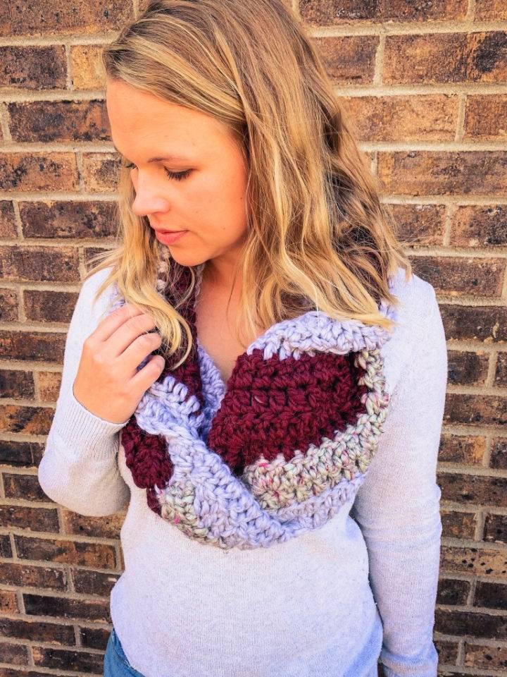Chevron Crochet Infinity Scarf Pattern