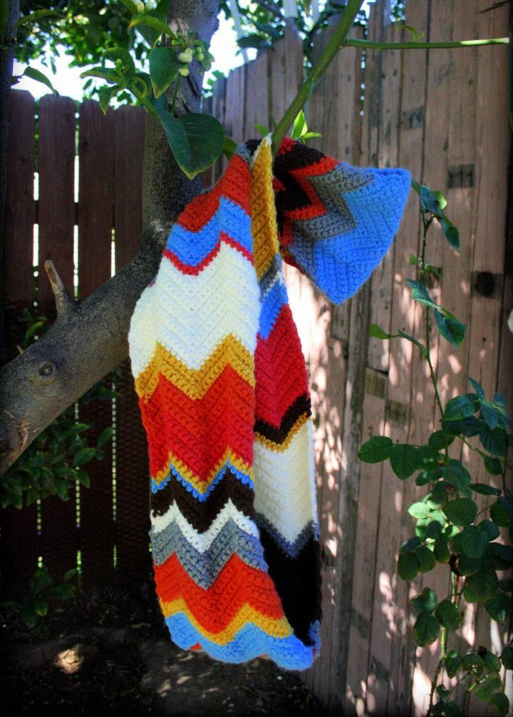Chevron Crochet Infinity Scarf