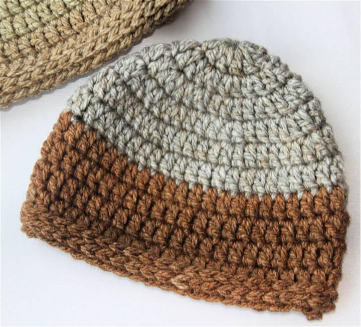 Chunky Crochet Caron Beanie