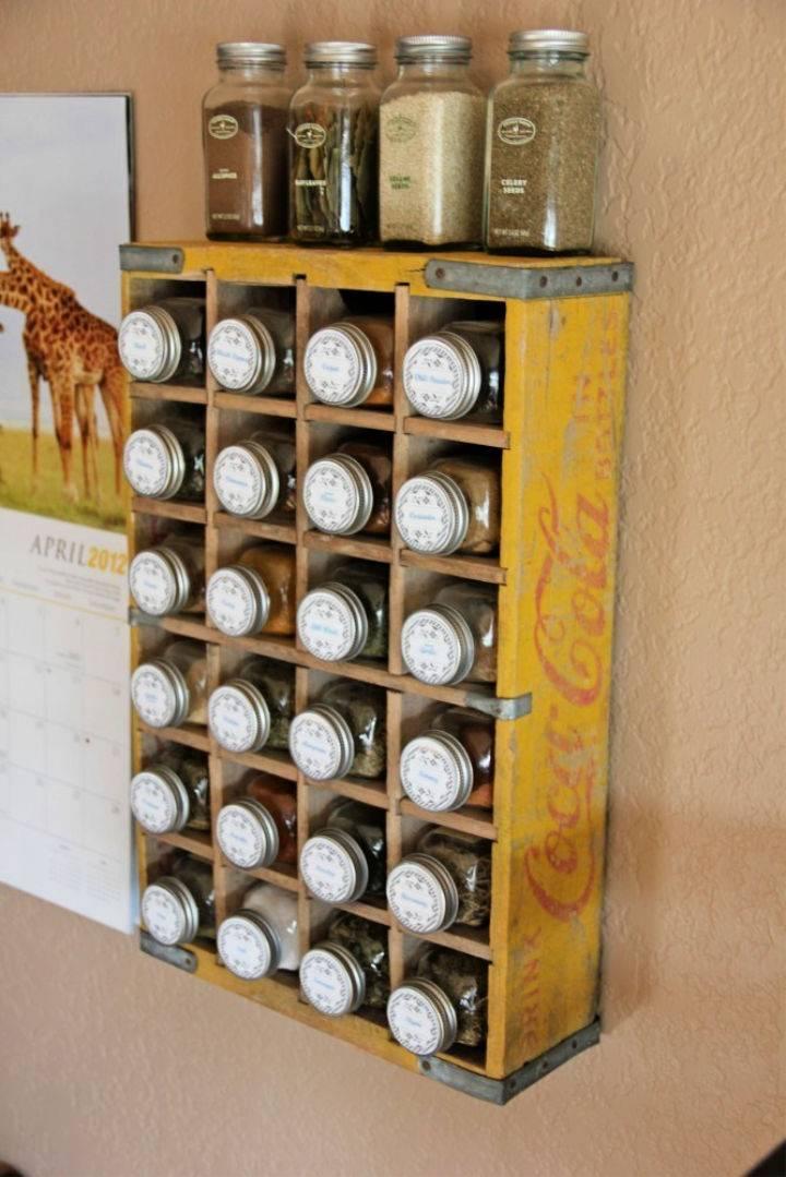 Coca cola Crate Spice Rack