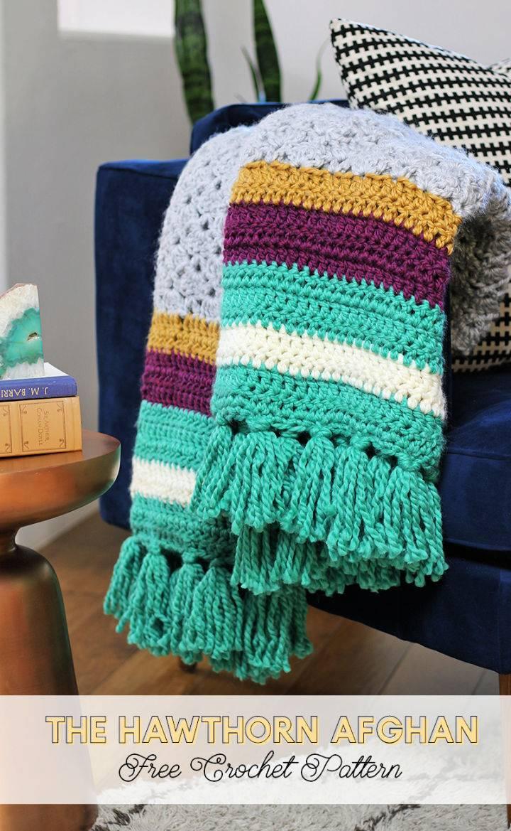 Colorful Crochet Afghan Blanket Pattern
