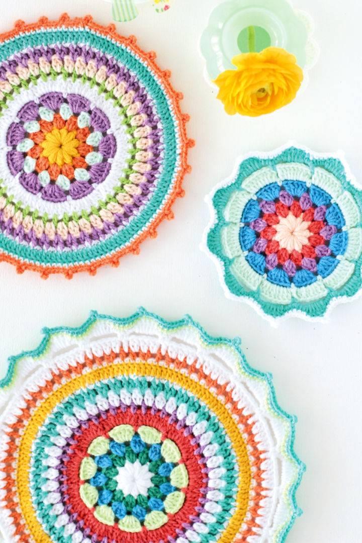Colourful Crochet Mandala Pattern