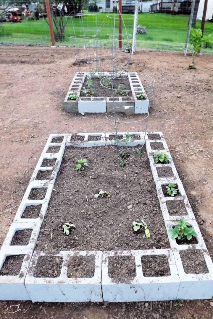 Concrete Raised Garden Bed