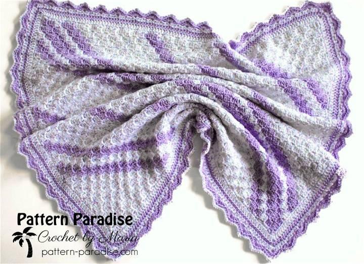 Confetti C2c Baby Blanket Free Crochet Pattern