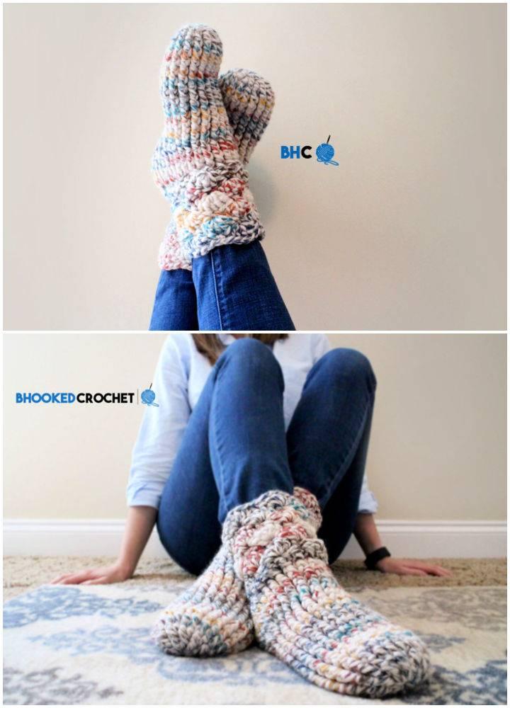 Cozy Crochet Slipper Socks Pattern