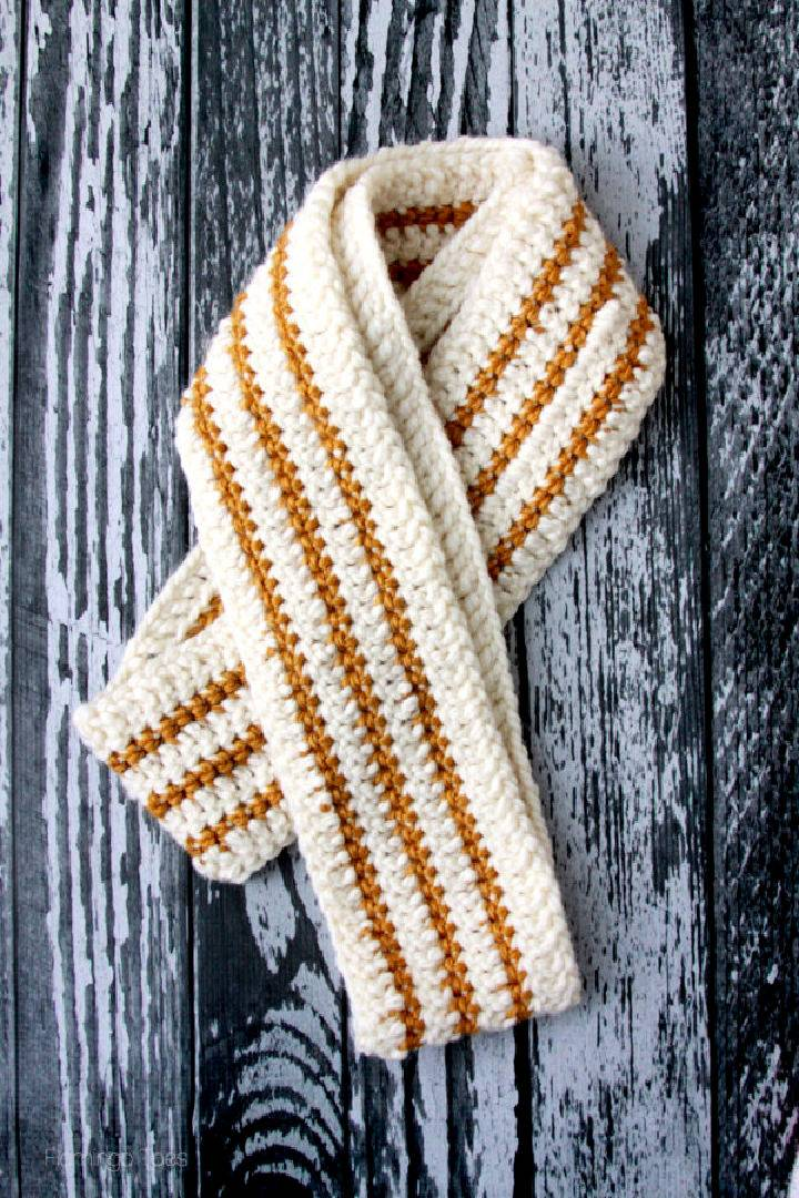 Cozy Striped Crochet Infinity Scarf