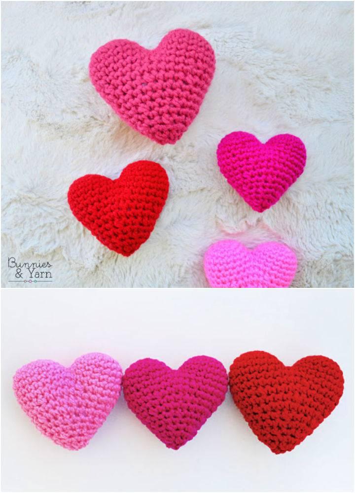 Crochet 3D Hearts Pattern