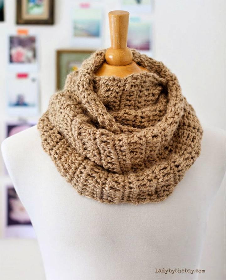 Crochet 4 Hour Infinity Scarf